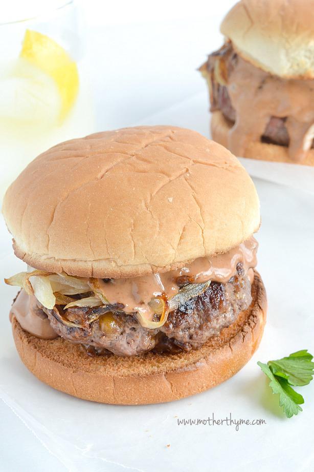 Campfire Burgers   www.motherthyme.com #burgers