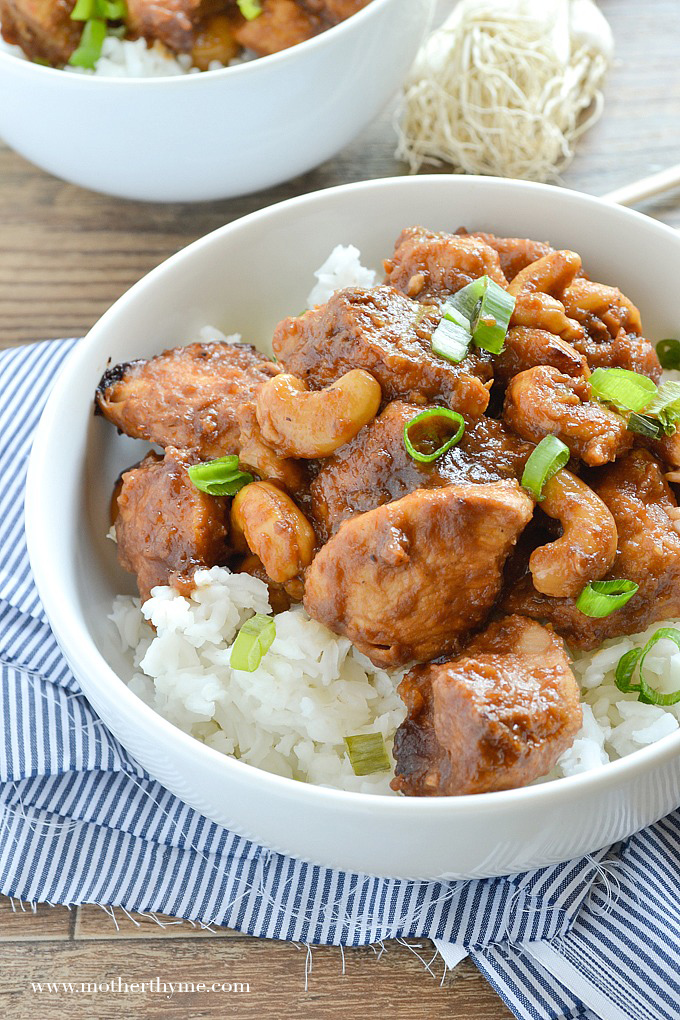Slow Cooker Cashew Chicken | Mother Thyme