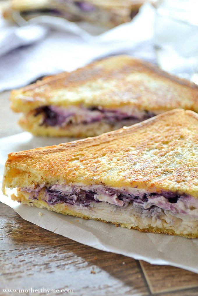 Grilled Turkey and Blueberry Goat Cheese Sandwich | Mother Thyme