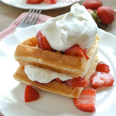 Strawberry Shortcake Waffles