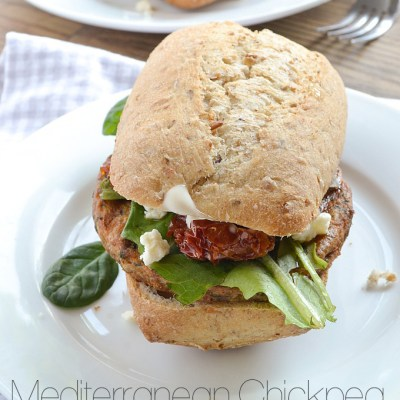 Mediterranean Chickpea Burgers + $100 Visa Gift Card Giveaway from MorningStar Farms
