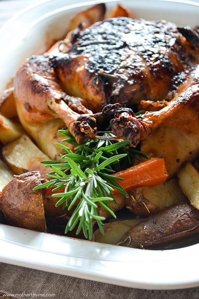 Maple-Rosemary Roast Chicken