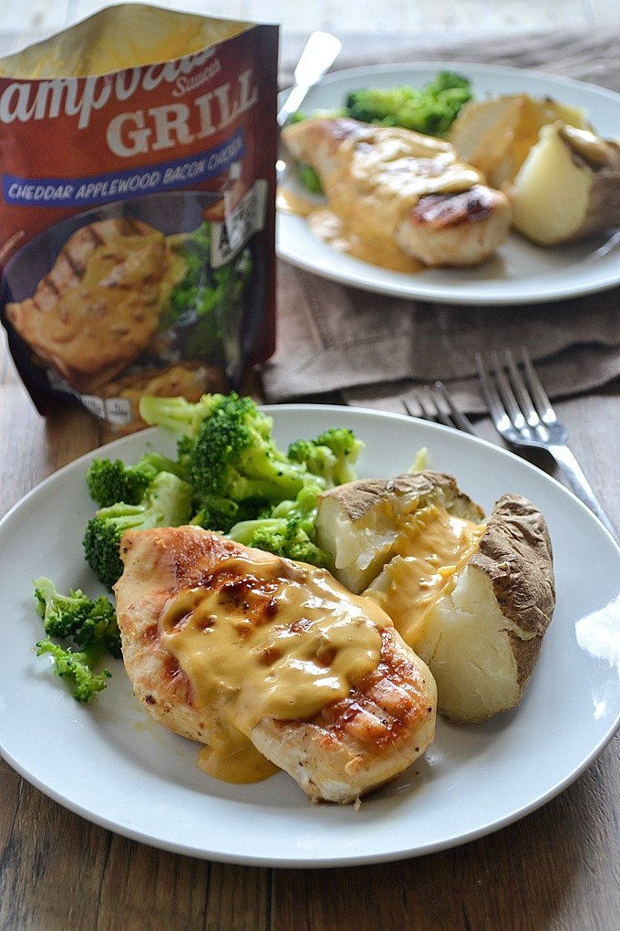 Cheddar Applewood Bacon Chicken with Campbell's® Grill Sauce