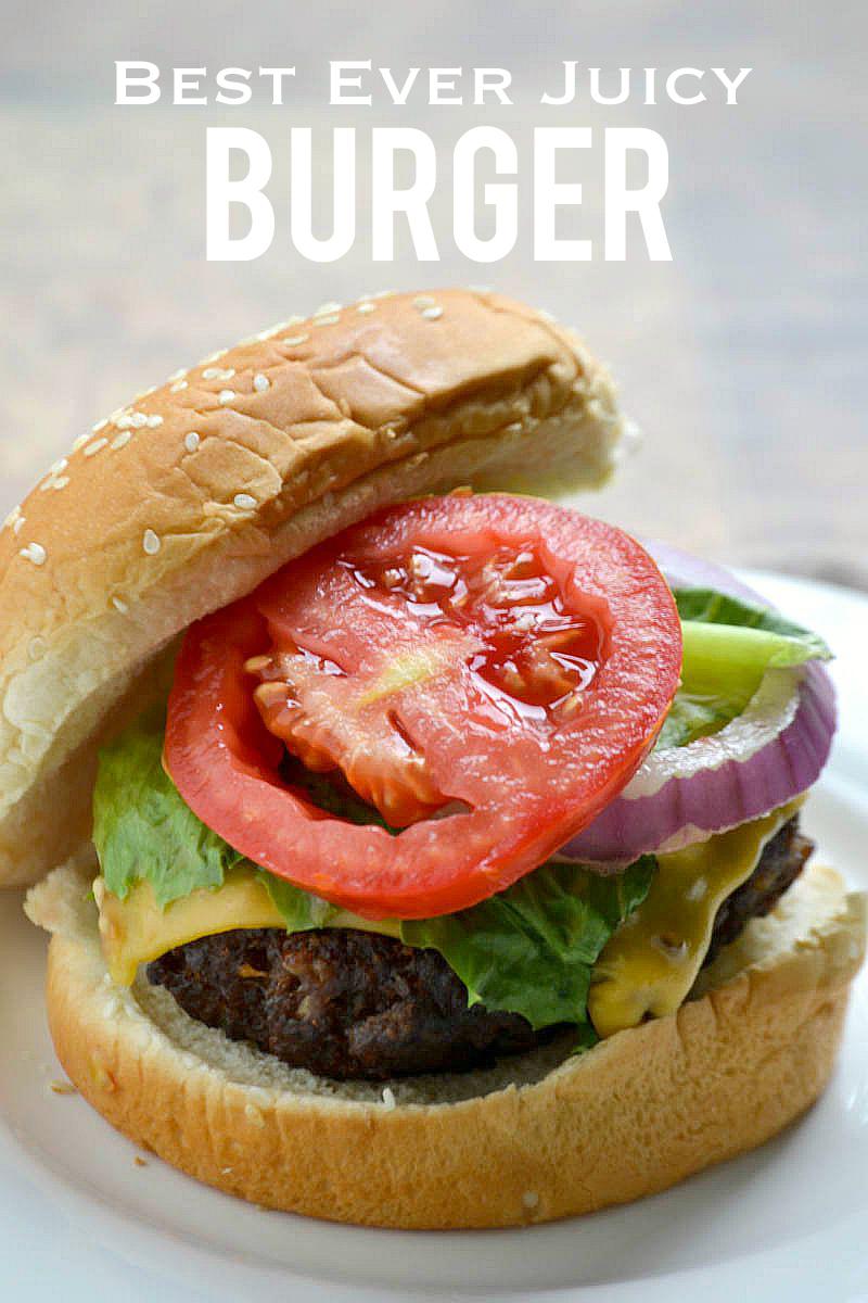 Best Ever Juicy Burger | www.motherthyme.com