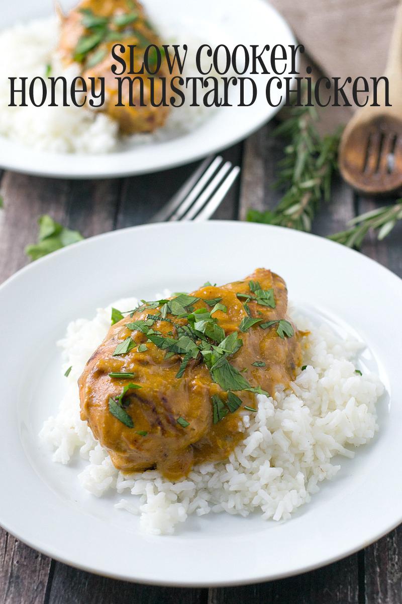 Slow Cooker Honey Mustard Chicken   www.motherthyme.com