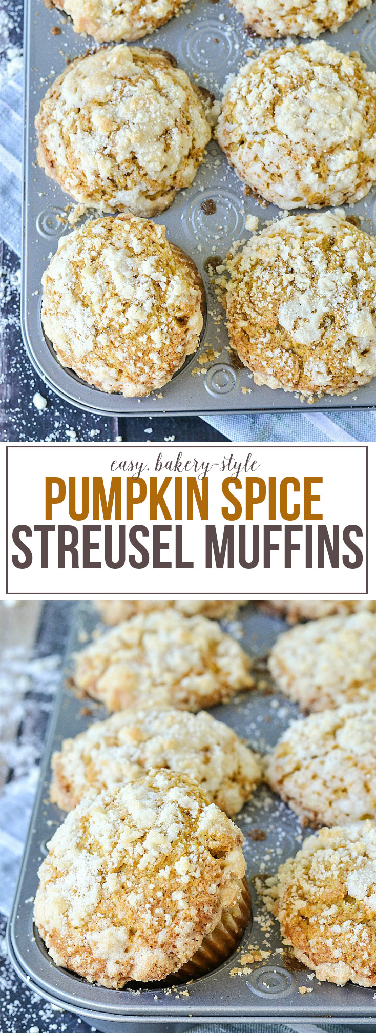 Pumpkin Spice Streusel Muffins from www.motherthyme.com