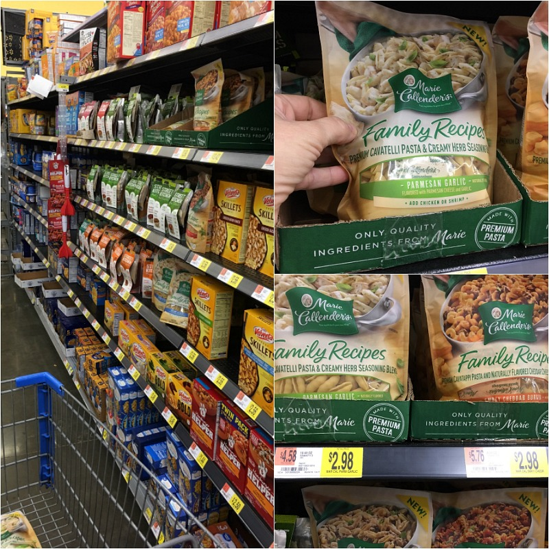 Marie Callender's Family Recipes Dry Dinner Mix available only at Walmart