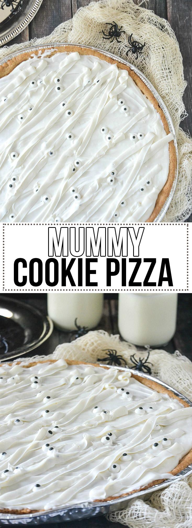 Mummy Cookie Pizza - www.motherthyme.com