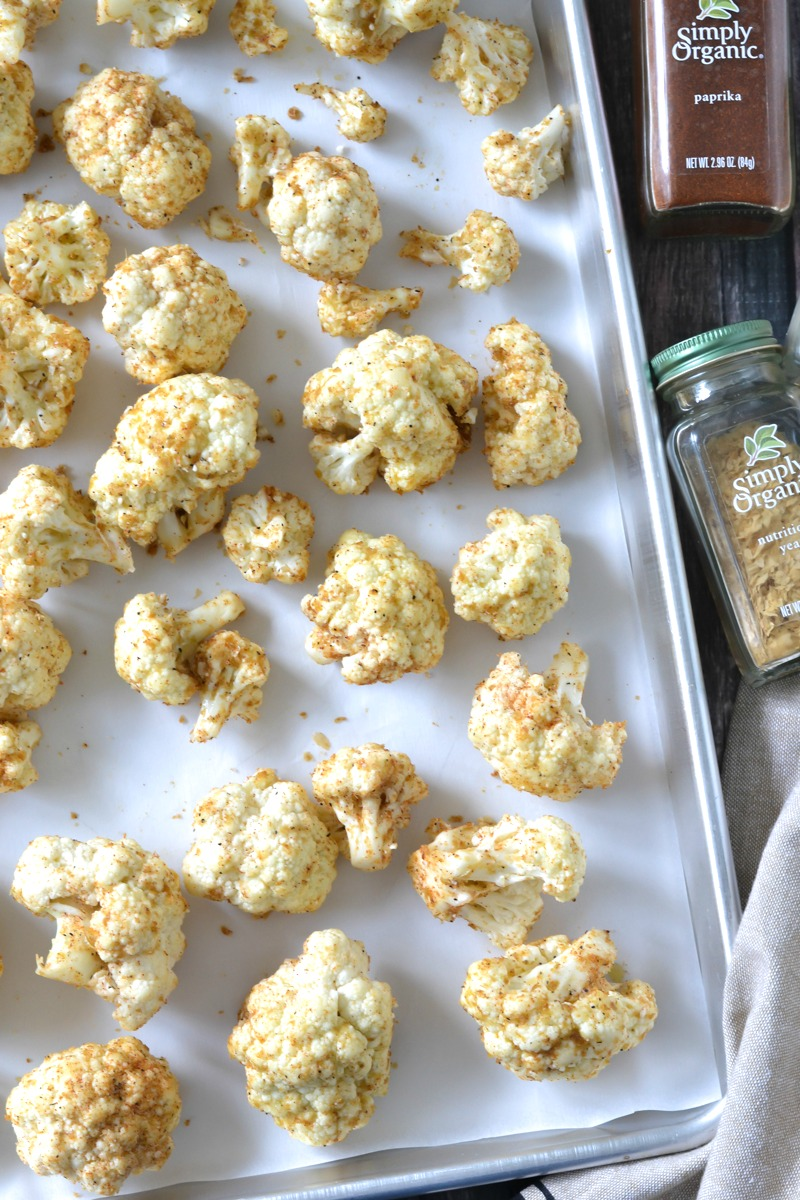 CRISPY BAKED CAULIFLOWER POPPERS