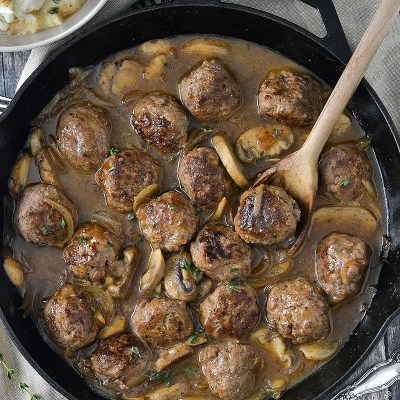 Salisbury Steak Meatballs (Paleo)