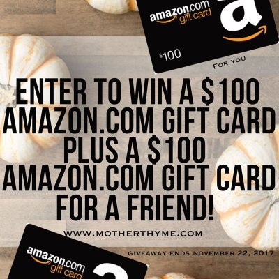 **CLOSED** Thankful Giveaway! Enter to WIN a $100 Amazon eGift card + one for a friend
