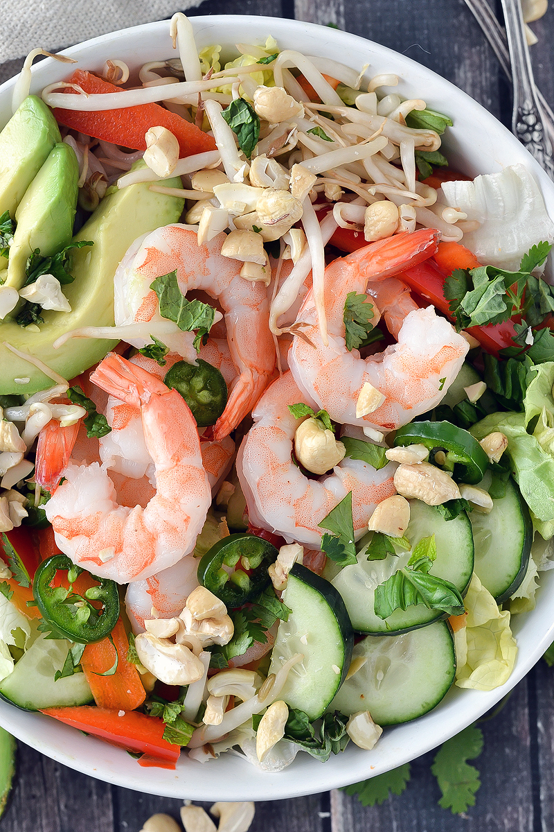 SHRIMP SPRING ROLL SALAD