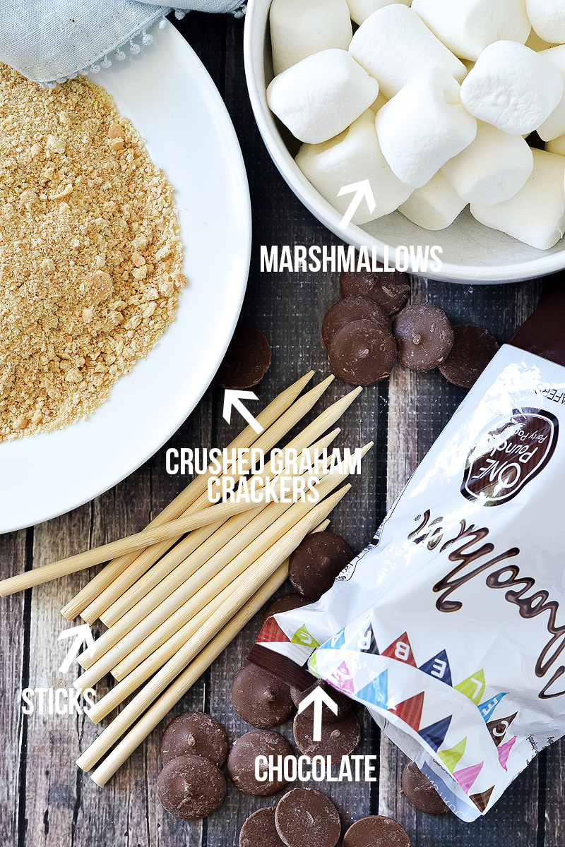 S'MORES MARSHMALLOW POPS