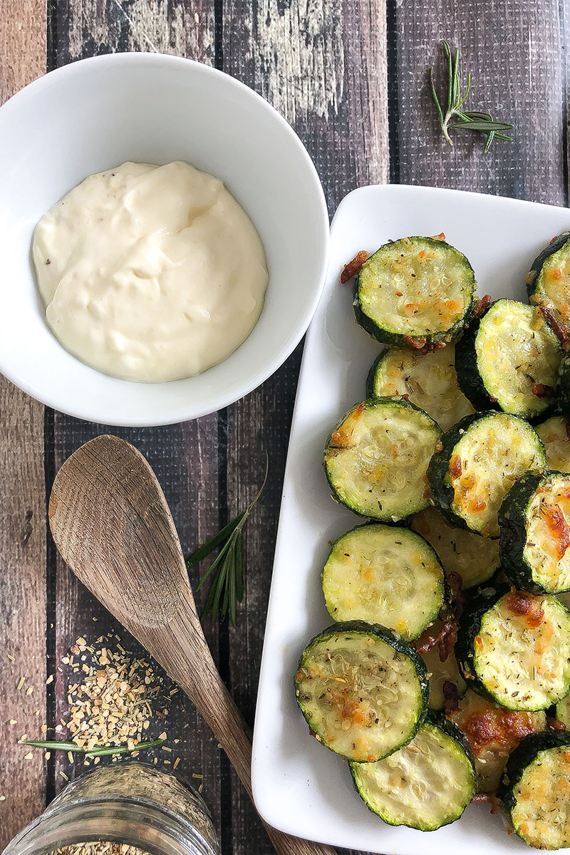 Roasted Zucchini with Garlic Aioli