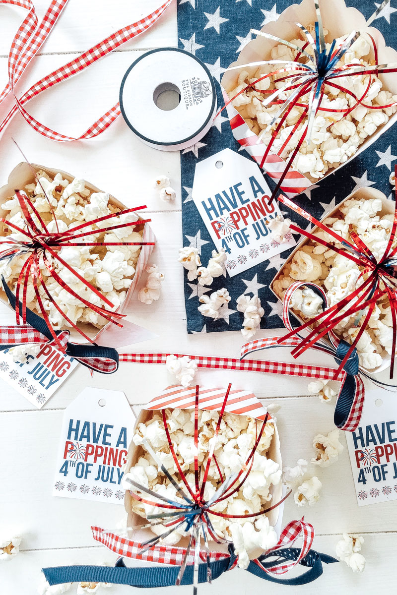 4th of July Popcorn Tags (free printable)