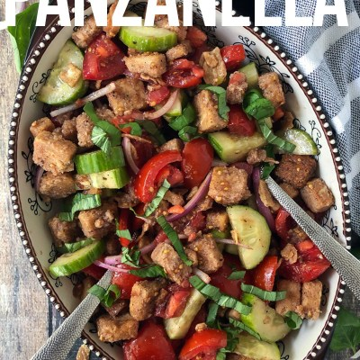 QUICK AND EASY PANZANELLA SALAD