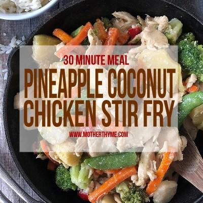 Pineapple Coconut Chicken Stir Fry