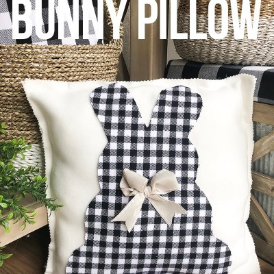 Easy No-Sew Bunny Pillow