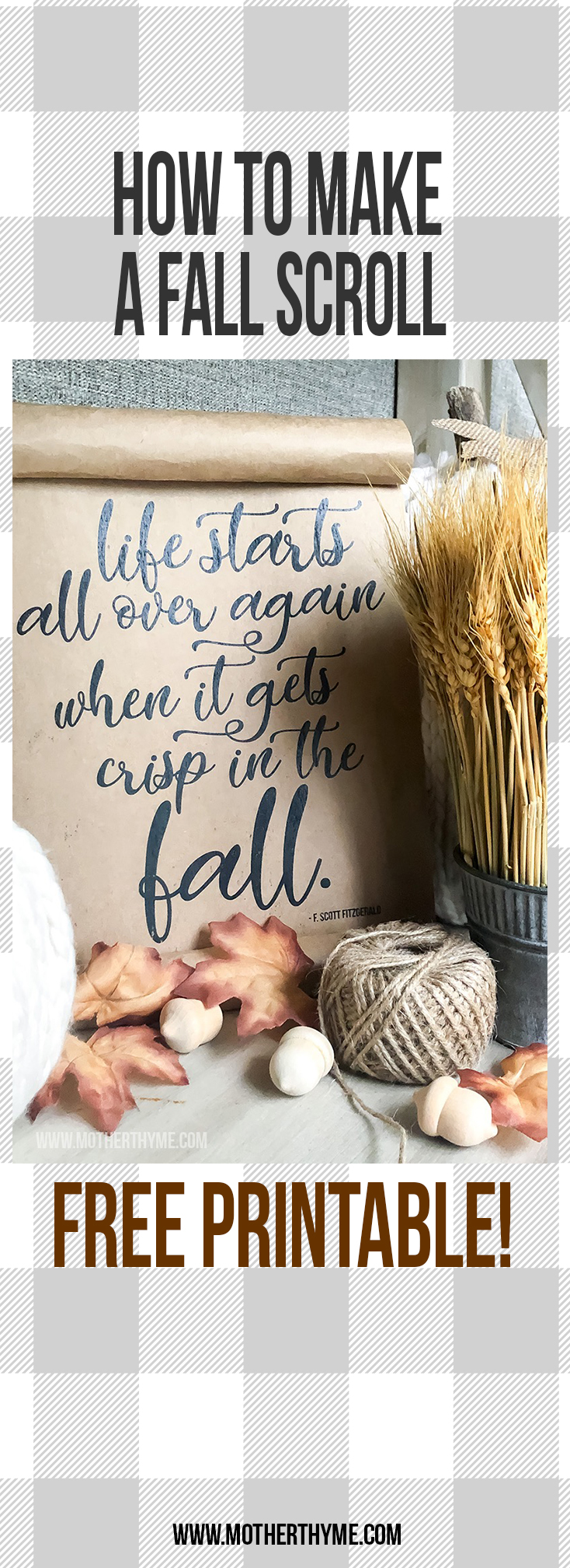 Life Starts Again in the Fall - free printable