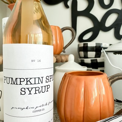 PUMPKIN SPICE SYRUP LABEL - FREE PRINTABLE