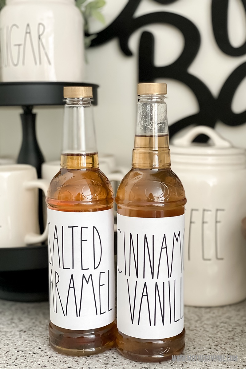 FARMHOUSE INSPIRED COFFEE SYRUP LABELS - FREE PRINTABLES