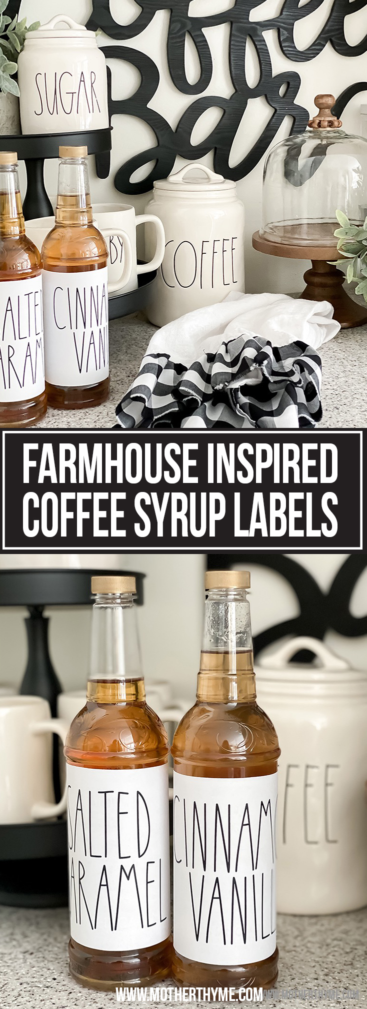 FARMHOUSE INSPIRED COFFEE SYRUP LABELS -FREE PRINTABLES
