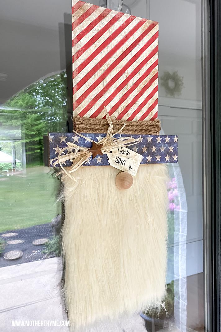 DIY Uncle Sam Door Hanger