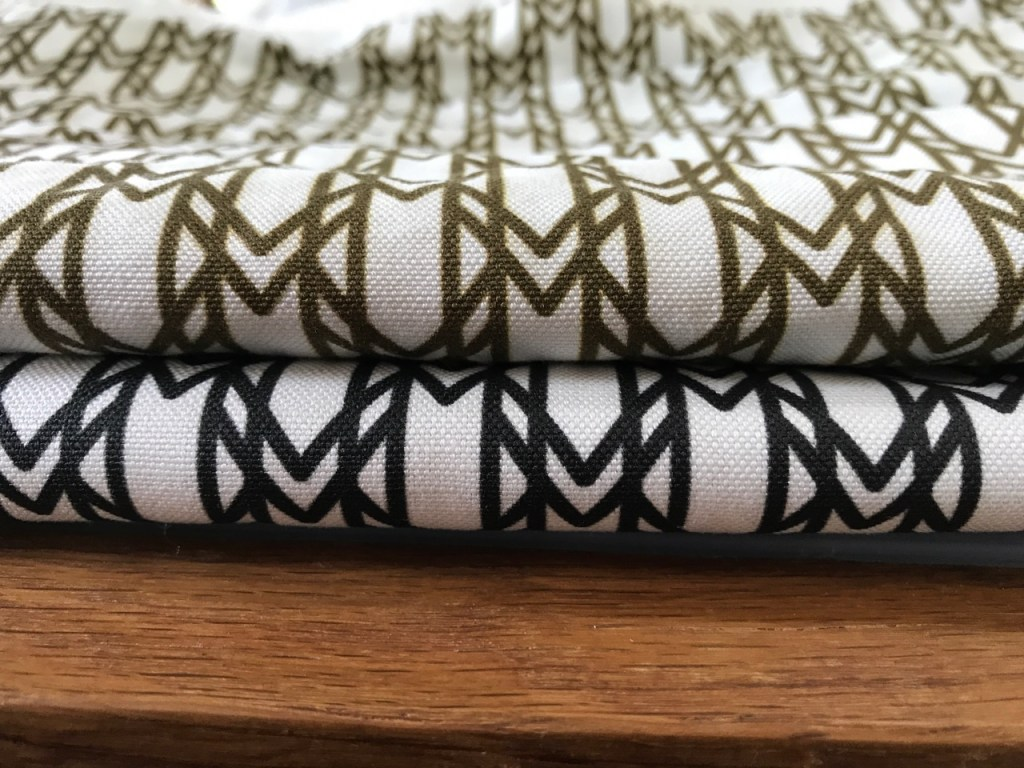 signature monogram fabric linen texture detail