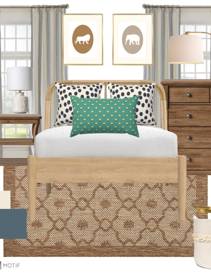 A Neutral Kids Room Design Full of Texture