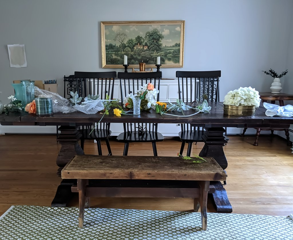 dining room silk floral arrangements