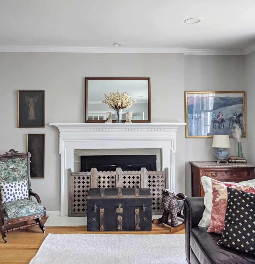 spring fireplace decor
