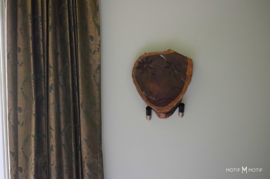 carved wooden wall art from hia maui