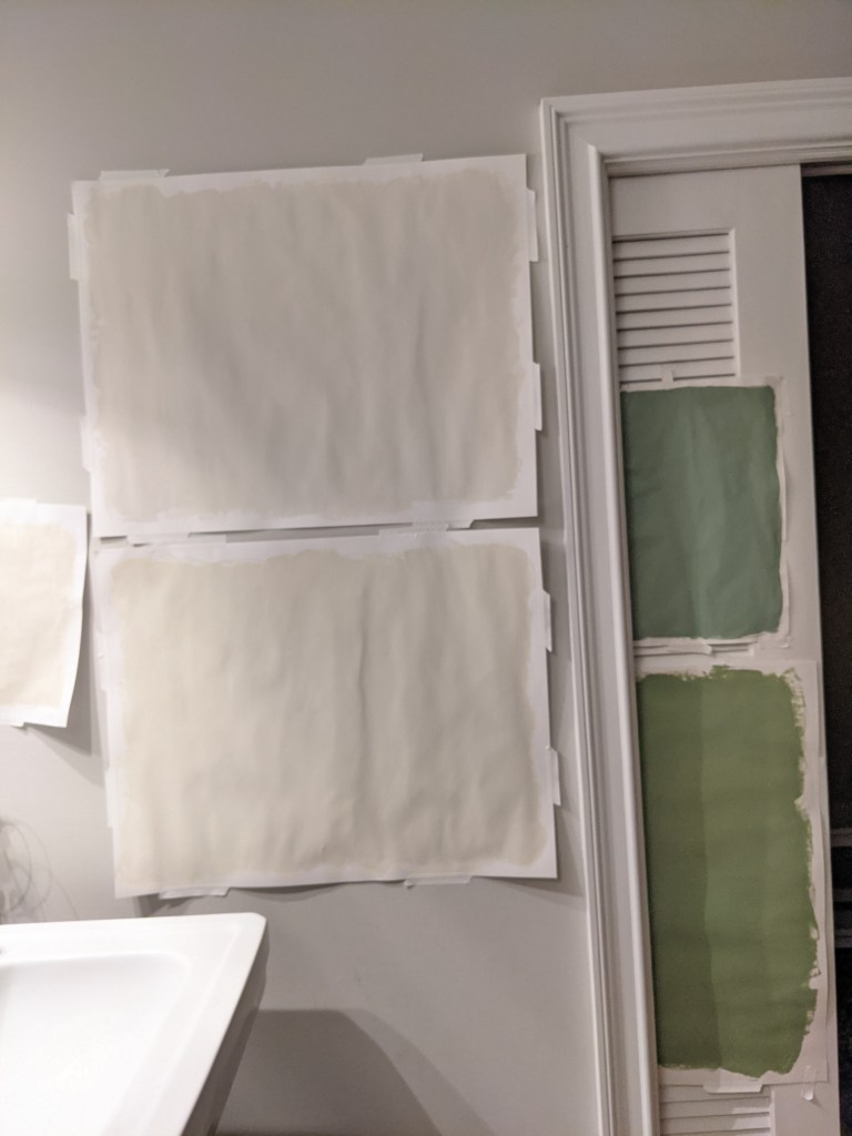 farrow and ball wall swatches on paper lime white slipper satin breakfast room green yeabridge