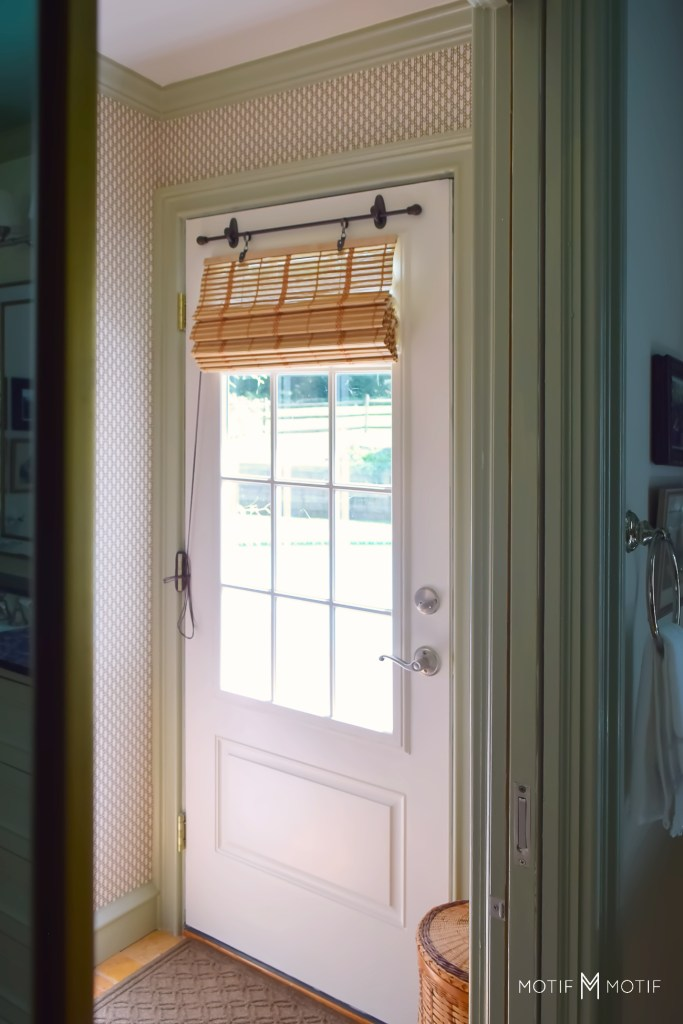 roman bamboo shade conversion diy with command hooks