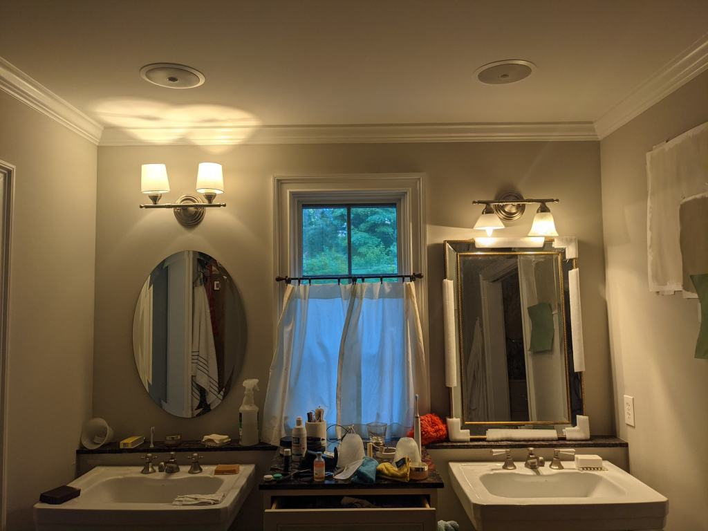 vanity sconce shade options