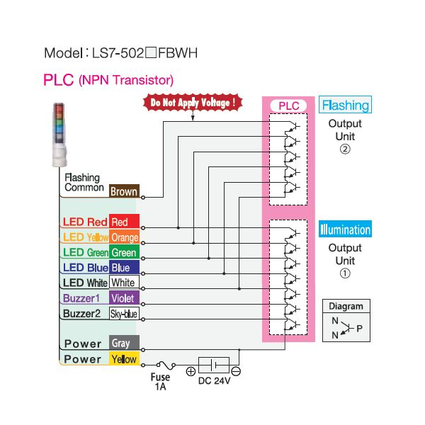 hight resolution of patlite ls7 wiring diagram product info