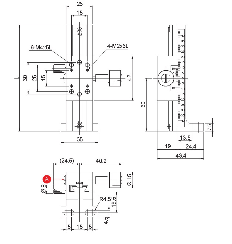 manual linear positioning stage