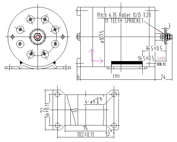 MY1020 1000W 48v Straight DC Motor