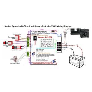 12V36V bidirectional DC Speed Controller 50A