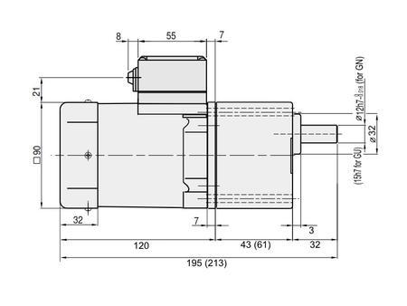GPG 90mm 60 Watt AC Induction Motor