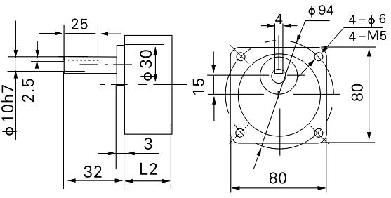 GPG 80mm 25 Watt AC Reversible Geared Motor