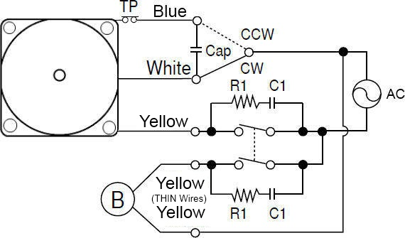 reversible electric motor wiring diagram