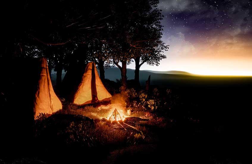 Campfire wilderness