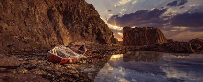 Fishing Boat on shoreline