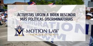 Defensores urgen al gobierno de Biden actuar inclusive más sobre la inmigración
