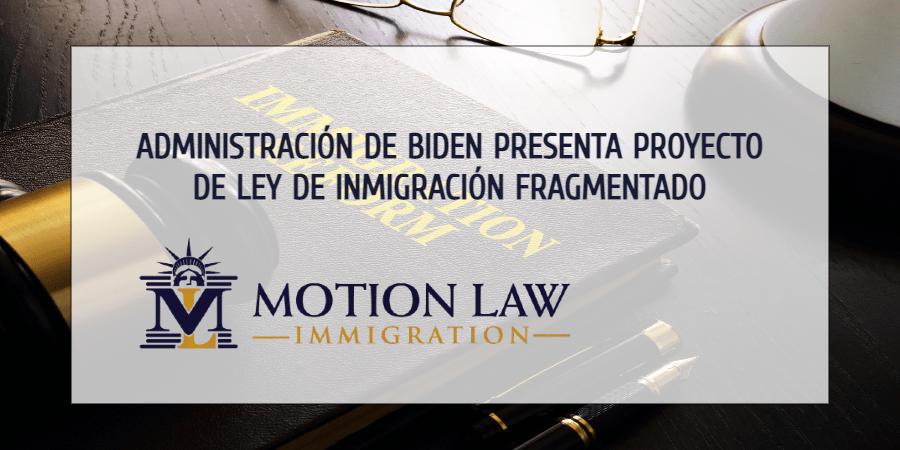 Biden introduce proyecto de ley de inmigración pieza por pieza