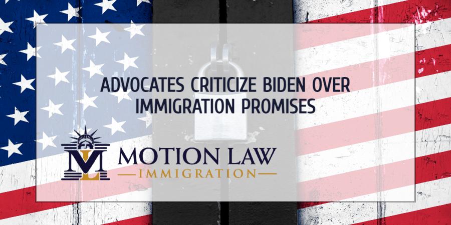 Advocates lose patience over Biden's immigration promises