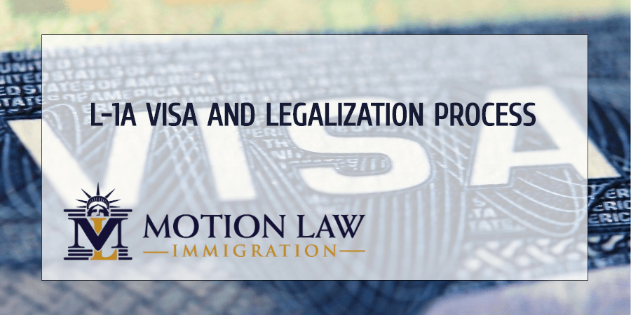 Request employee with L-1A Visa