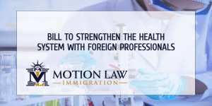 Bill could benefit foreign professionals and the health system
