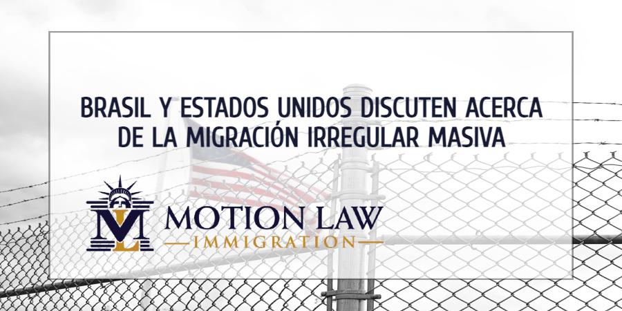 Estados Unidos y Brasil planean estrategias para reducir la migración irregular